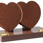 Ruby Red Granite Heart Memorial