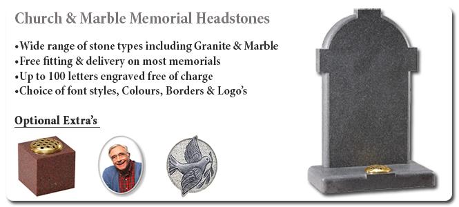 Church & Marble Memorials Banner