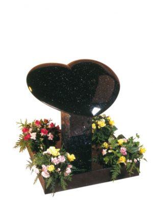 Star Galaxy Granite Heart Memorial