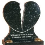Emerald Pearl Granite Heart Memorial