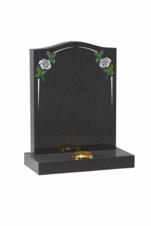 Flint Grey Granite Headstone