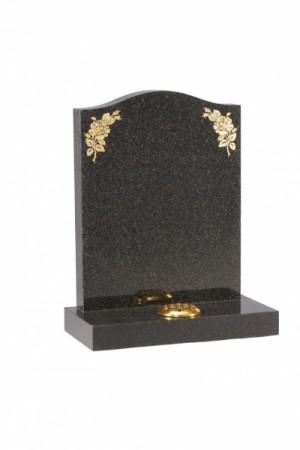 Dark Grey Granite Headstone EC19