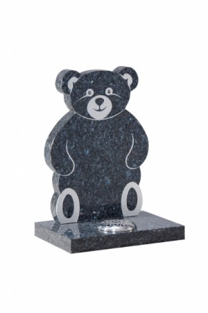 Blue Pearl Granite Children's Memorial Headstone