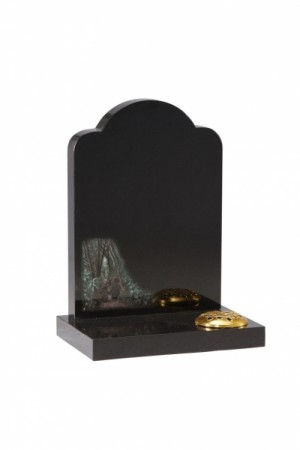 Dense Black Granite Children's Memorial