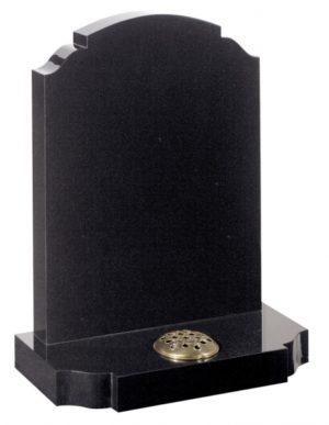 Dense Black Granite memorial Headstone