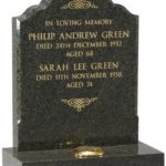 Jade Green Granite Headstone