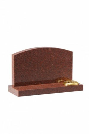 Ruby Red Granite Cremation Memorial Stone