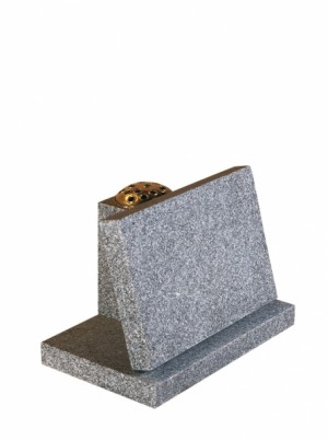 Lunar Grey Granite Cremation Memorial