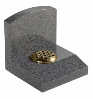 Dark Grey Granite Cremation Memorial Stone