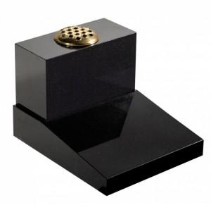 EC50 Dense Black Granite Cremation Memorial Stone