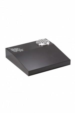 EC253 Dense Black Granite Cremation Memorial Stone
