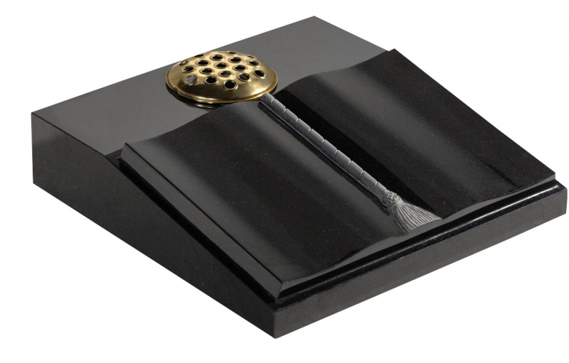 Black Granite Memorial Book Desk Somerville Stone