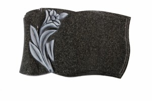 EC262 Dark Grey Granite Cremation Memorial Stone