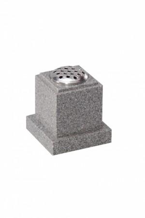 Lunar Grey Granite Memorial Vase
