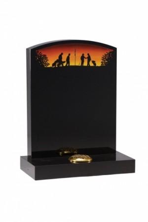 EC29 Dense Black Granite Memorial Headstone