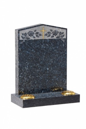 Blue Pearl Memorial Headstone EC35