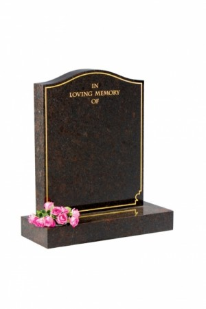 Coffee Brown Granite Memorial Headstone