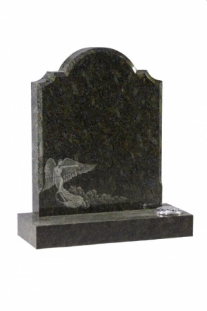 EC43 Butterfly Blue Granite Memorial Headstone