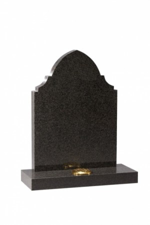 Dark Grey Granite Memorial Headston EC48