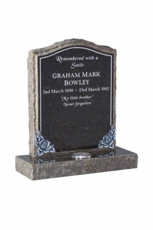Ocean Blue Memorial Headstone