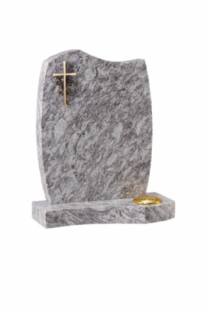 Lavender Blue Granite Headstone