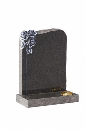 EC71 Dark Grey Granite Memorial Headstone