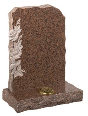 Balmoral Red Granite Memorial Headstone
