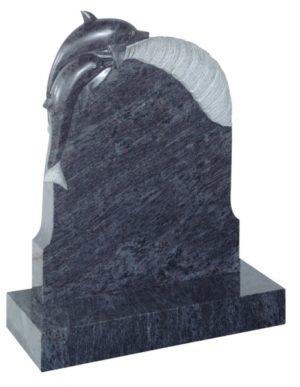 EC73 Bahama Blue Granite Memorial Headstone