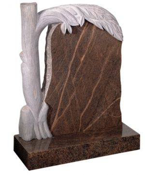 English Teak Granite Memorial Headstone
