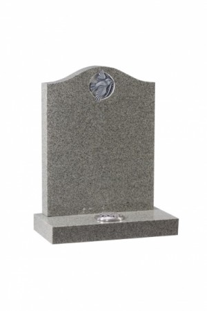 EC77 Karin Grey Granite Memorial Headstone