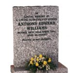 Mervyn Grey Granite Memorial Headstone