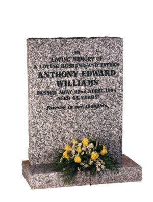 Mervyn Grey Granite Memorial Headstone