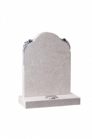 EC80 Rose White Granite Memorial Headstone