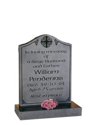 EC81 Dense Black Granite Memorial Headstone