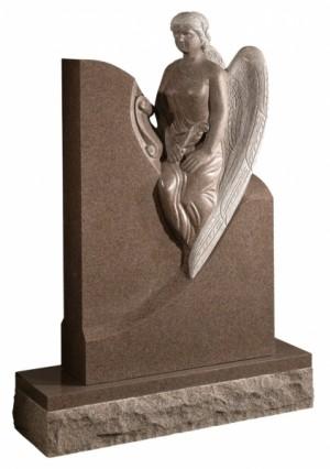 Carnation Granite Memorial Headstone