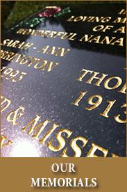 Our Memorials