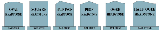 Memorial Stone Shapes